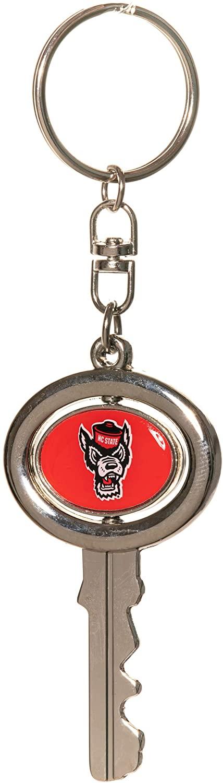 Collegiate Pulse North Carolina State University/NCSU Wolfpack NCAA Spinning Key Shaped Keychain