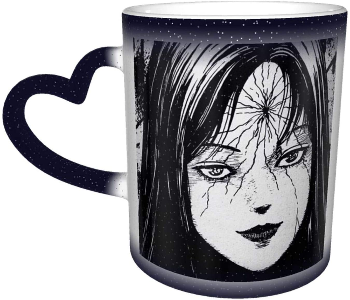 Tiizy Junji Ito Heat Sensitive Color Changing Color Cup Changing Mug In The Sky Magic Funny Art Coffee Mugs Ceramic Cup Personalized Gifts For Family Lovers Friends