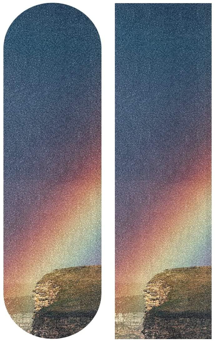 KLL Rainbow After Sunset Pattern Skateboard Grip Tape Sheet Scooter Deck Sand Paper 33.1