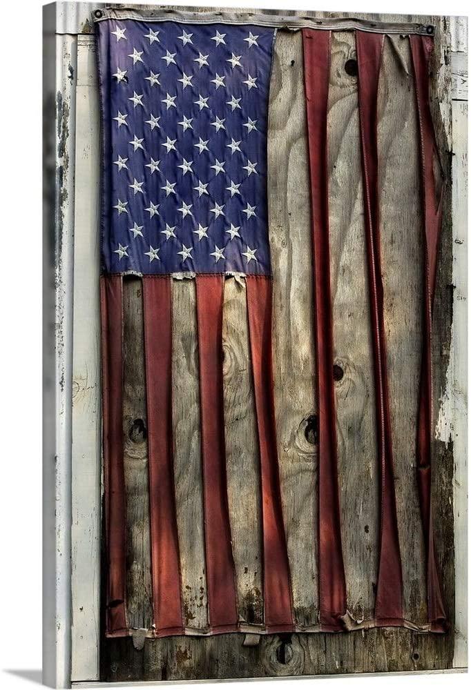 American Flag Pattern Canvas Wall Art Print, 20
