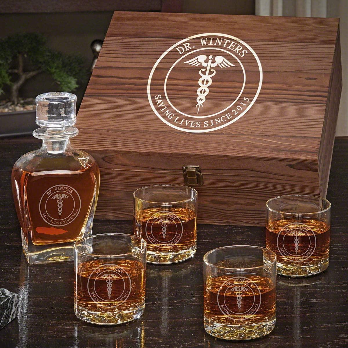 Medical Arts Personalized Whiskey Decanter Set (Custom Product)