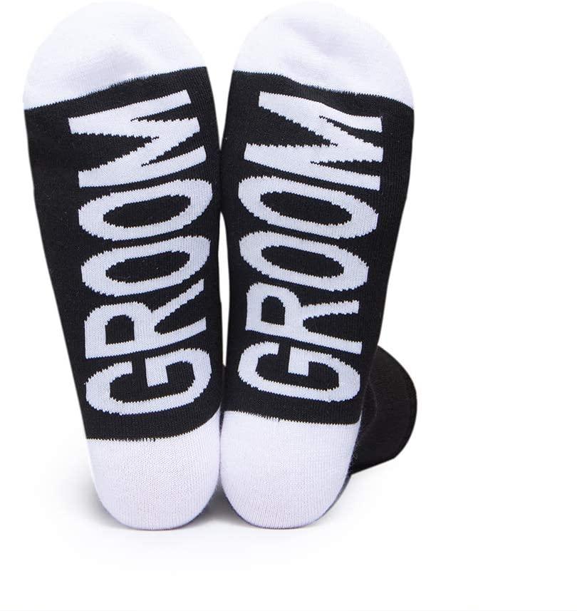 Groom Socks Man Bachelorette Party Groomsman Wedding Honeymoon Strip Club Night Shower Cotton Socks (Groom)