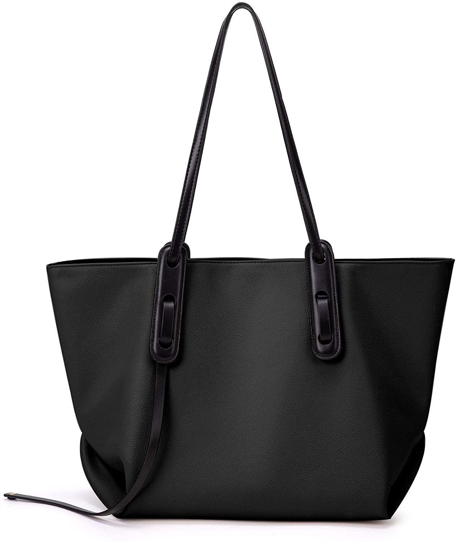 Women Fashion Large Purses and Handbags Tote Shoulder Hobo Bag, Top Handle Satchel Bucket Purses Soft Faux Leather