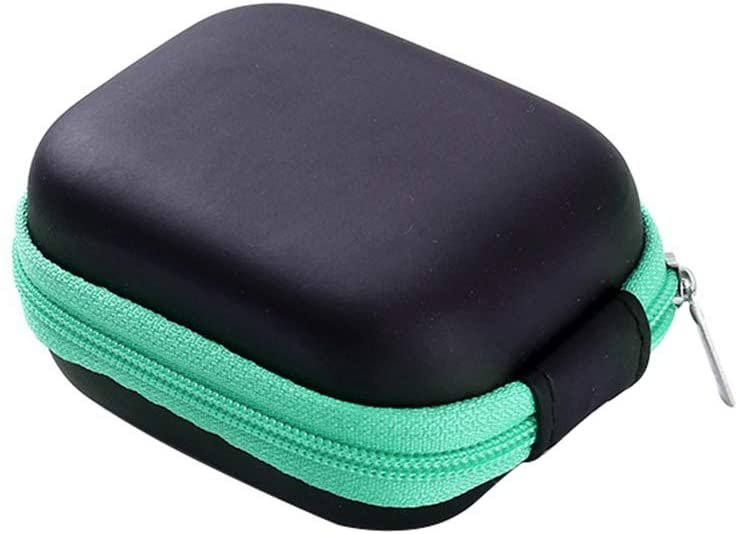 Jiecikou Essential Oil Carrying Case Holds 6 Bottles & Roller Balls 5ML Aromatherapy Container for Travel Storage Green