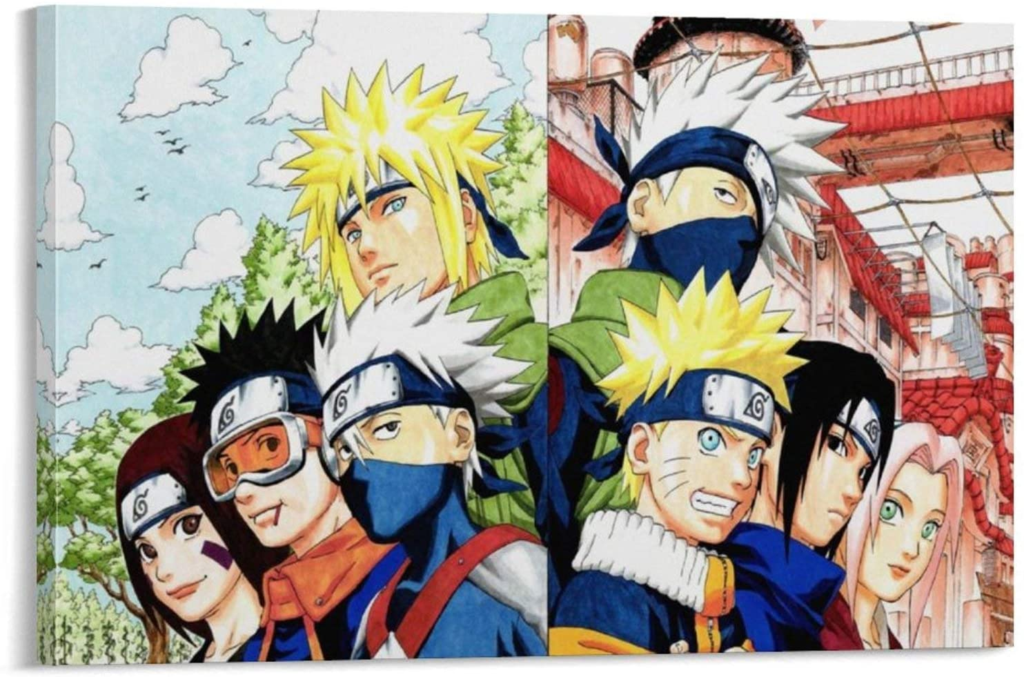 heshunxing Naruto Boys Poster Decorative Painting Canvas Wall Art Living Room Posters Bedroom Painting 24x36inch(60x90cm)
