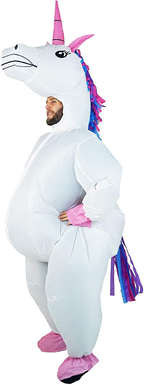 Bodysocks Adult Inflatable Unicorn Full Body Fancy Dress Costume