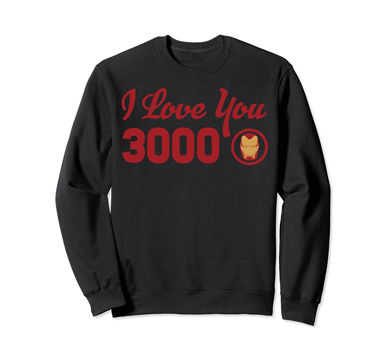Marvel Avengers Endgame Iron Man I Love You 3000 Red Logo Sweatshirt