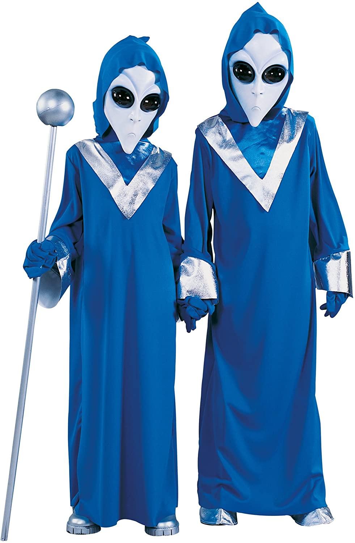 Child Space Alien Costume Small (4-6) Blue