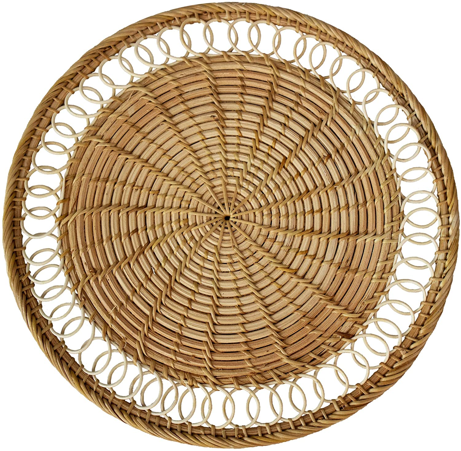 Set of 4 Pack Rattan Woven Placemats 13