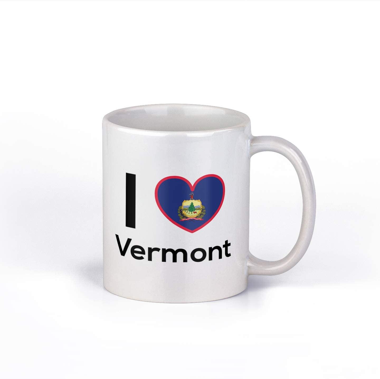 I Love Vermont Coffee Mug   State Pride Cup   Great Gift Idea   11 Ounce Coffee Mug   CM1166