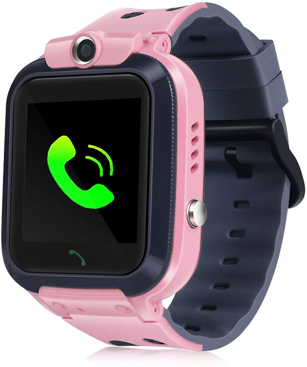 Smartwatch for Kid, IP67 Waterproof 1.44 inchTouch Screen Watches. GPS Tracker with SOS and Pedometer with Camera Phone Watch. Smartwatch for 3-14 Year Old Children Girls Boys (Pink)