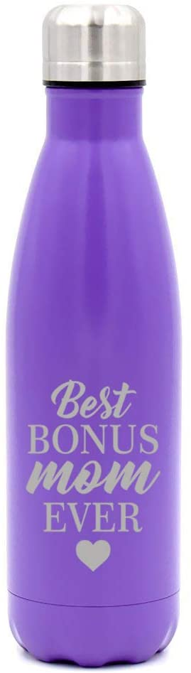MIP Brand 17 oz. Double Wall Vacuum Insulated Stainless Steel Water Bottle Travel Mug Cup Best Bonus Mom Ever Step Mom Mother
