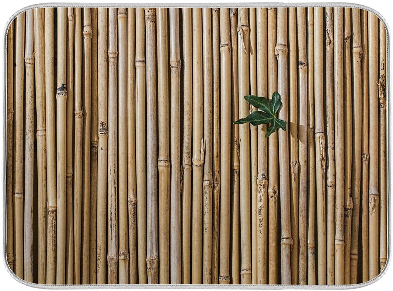 Dish Drying Mat Bamboo Raft Washable Deco Fast Drying Pad Dish Drainer Mat Kitchen Countertops Sinks Refrigerator 18 x 24 Inch