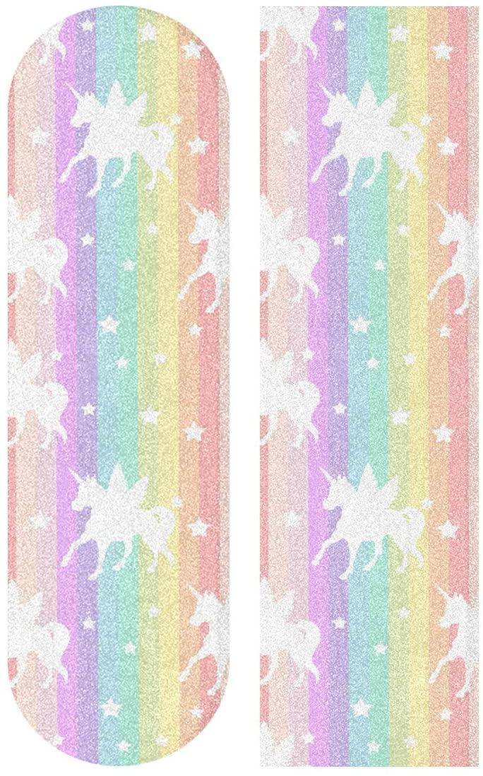 Skateboard Grip Tape Rainbow Unicorn Scooter Griptape Deck Sandpaper Longboard Sheet Sticker 9