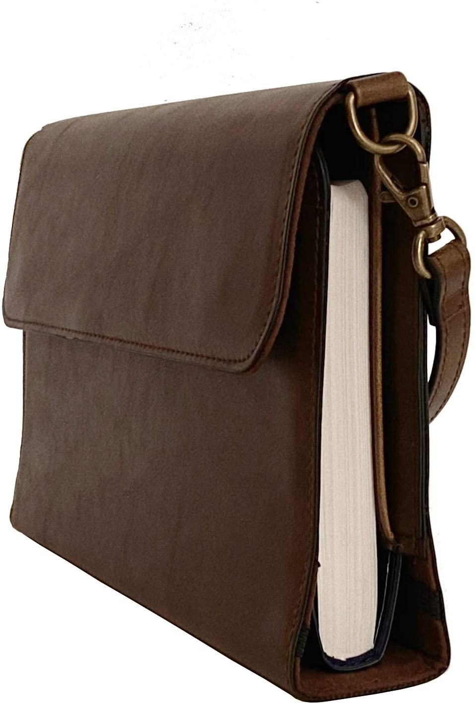 Leather Bible Covers for Women   Purse Style Case w/Removable Handle (9x6 and 8x5 inch)