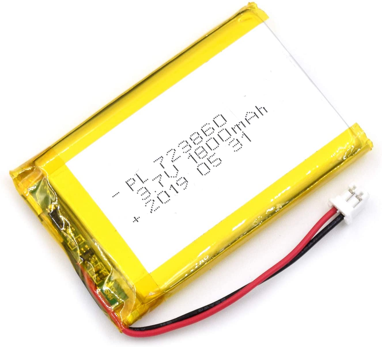 AKZYTUE 3.7V 1800mAh 723860 Lipo Battery Rechargeable Lithium Polymer ion Battery Pack with JST Connector