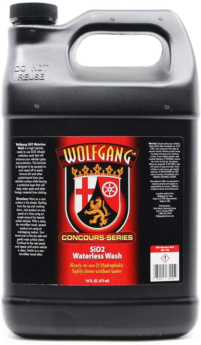 WOLFGANG CONCOURS SERIES WG-1702 SiO2 Waterless Wash, 128 oz