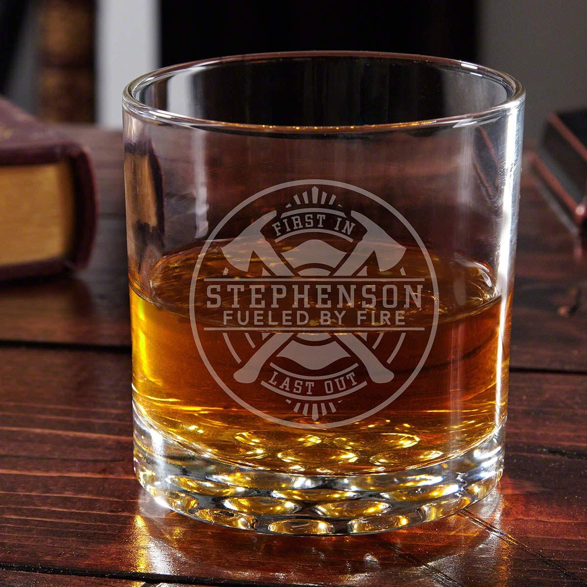 Firefighter Brotherhood Personalized Buckman Whiskey Glass (Custom Product)