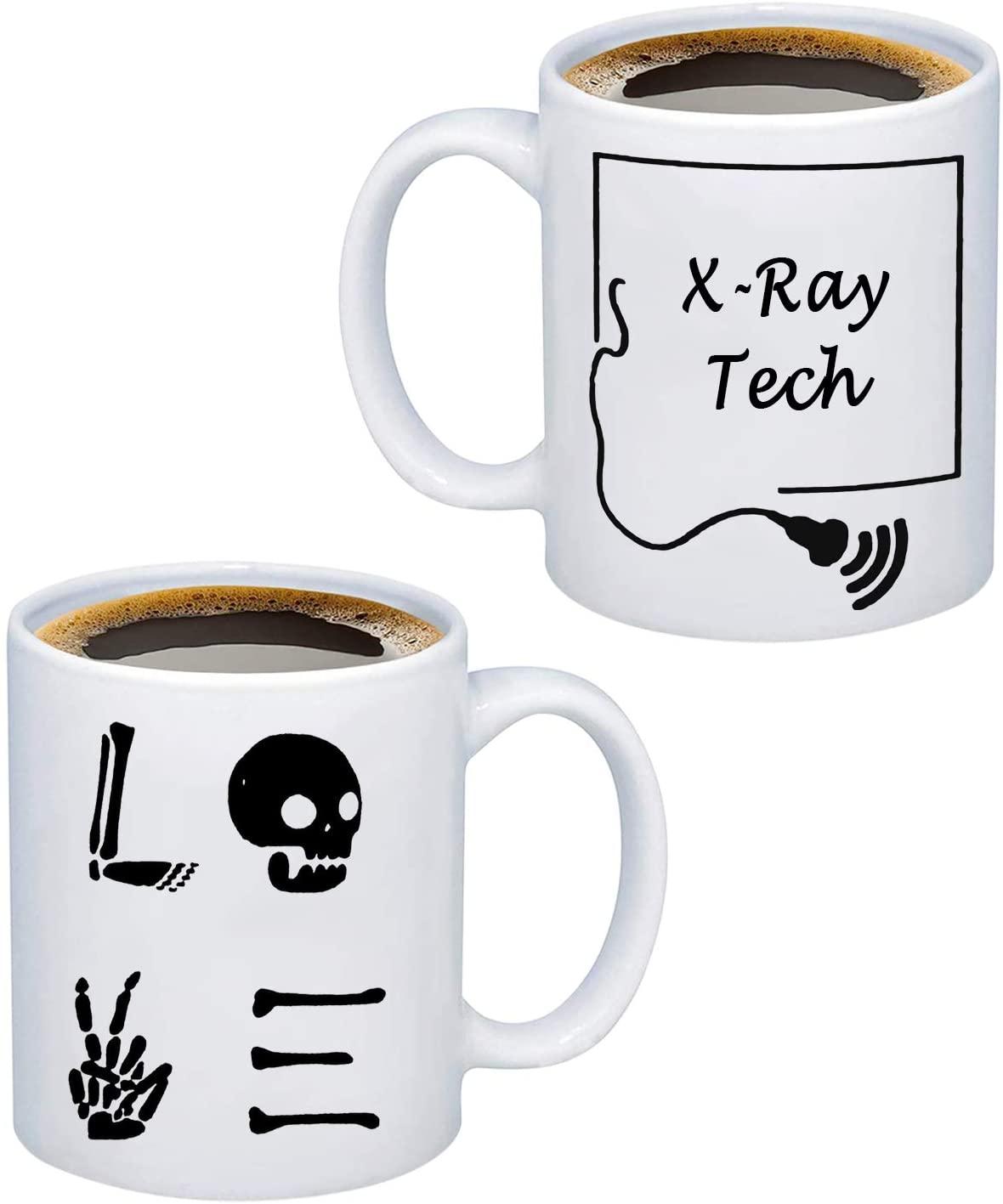G2TUP Radiology Technician X Ray Tech Mug for Men Women Funny Coffee Mug Tea Mug Ray Tech Graduation Gift Appreciation Gift (X Ray Tech Mug)