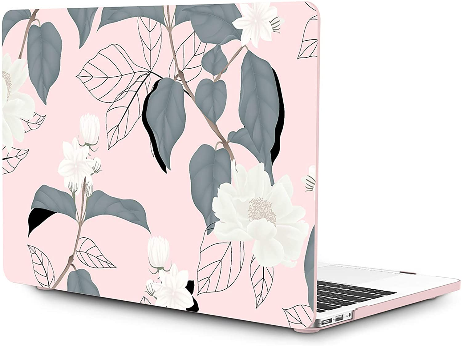OneGET Macbook Air 13 Inch Case Hard Shell Laptop Case Macbook Air 13 inch Release 2010-2017 A1369 A1466 with Retina Display Computer Case Macbook Air 13 Inch Fashion Macbook Air 13 Case Hibiscus(F11)