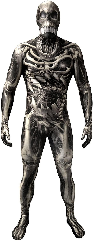 Morphsuits Men's Monster Skull and Bones Costume Skeleton, Medium