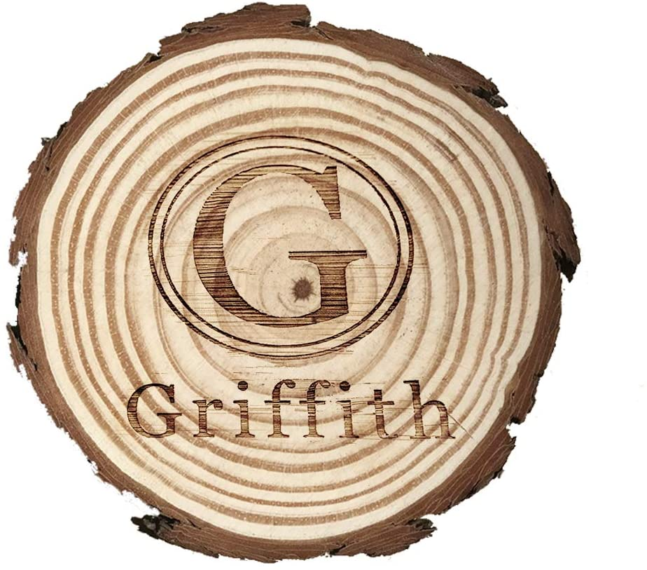 Personalized custom carved coasters, natural wooden coasters, custom coasters,wooden slice coaster.(4 pieces/set)(Mbd24)