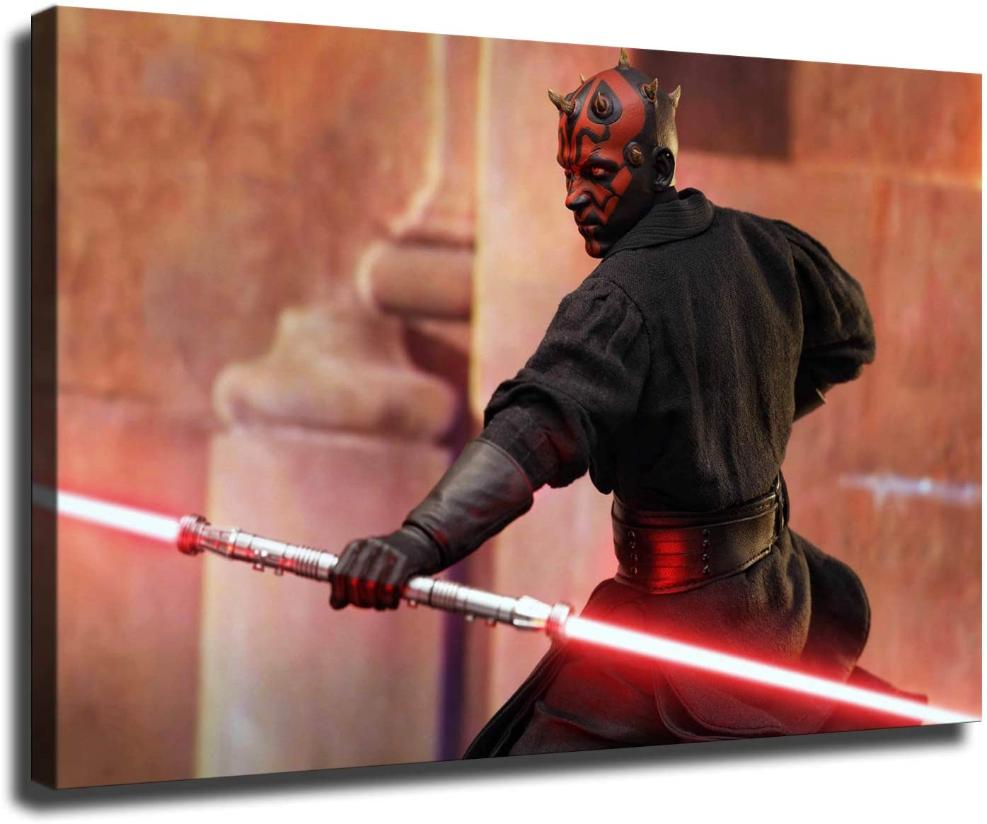 Star Wars canvas Poster Darth Maul aesthetic room wall decor art HD printing indoor aesthetic poster (12x18inch,No framed)