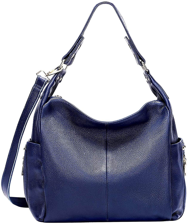 OVER EARTH Large Hobo Shoulder Bag Leather Purses and Handbags for Women Crossbody Purse(O110EW)