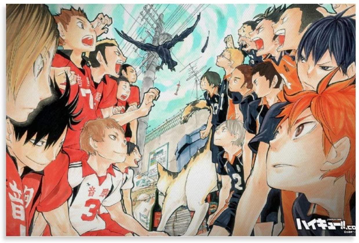 WUFENG Haikyuu 13 Manga/Anime TV Show Poster/Print Poster Frame Artist Home Decor Artwork for Living Room Wall Decoration 12x18inch(30x45cm)