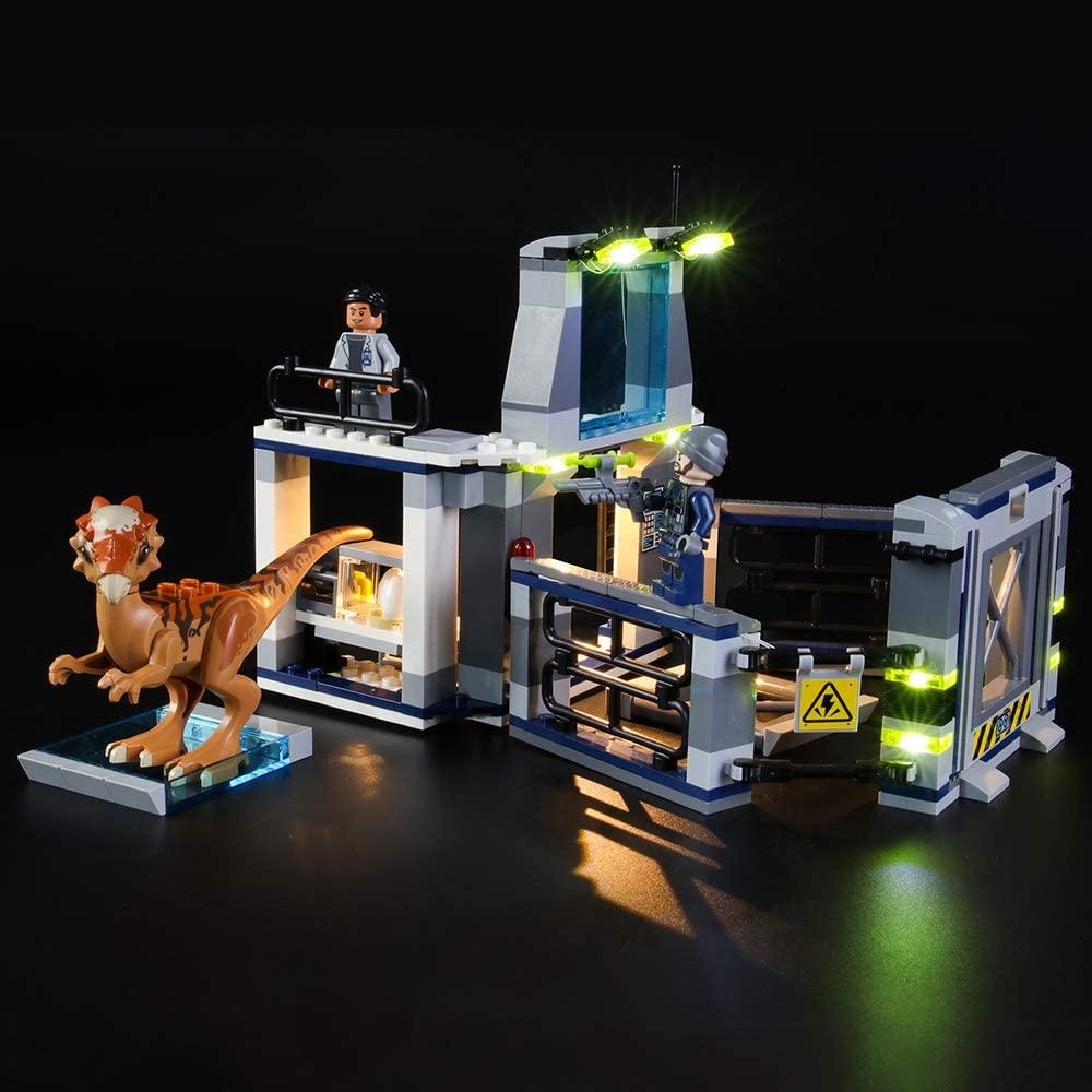 LIGHTAILING Light Set for (Jurassic World Stygimoloch Breakout) Building Blocks Model - Led Light kit Compatible with Lego 75927(NOT Included The Model)