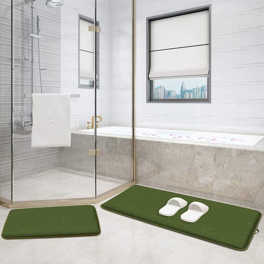 MORU&RUMO Memory Foam Bath Mats and Rugs Extra Thick Set Two-Piece Set -20
