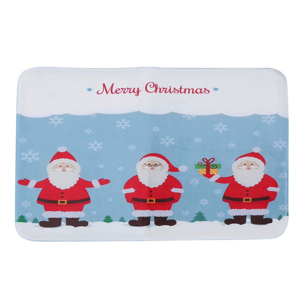 UPKOCH Christmas Doormat Entrance Door Mat Indoor Outdoor Welcome Doormat Rug