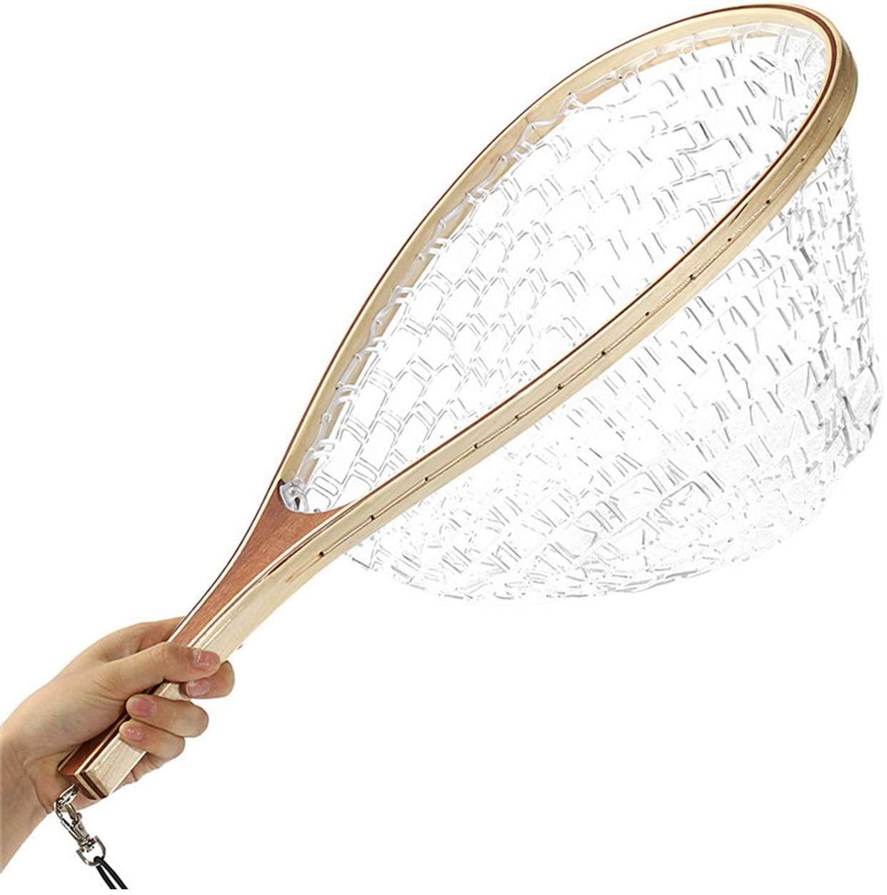 FREGITO Fly Landing Nets for Fishing, Rubber Net Pocket, Anti-wrap line, Anti-Hook, Protect Fish