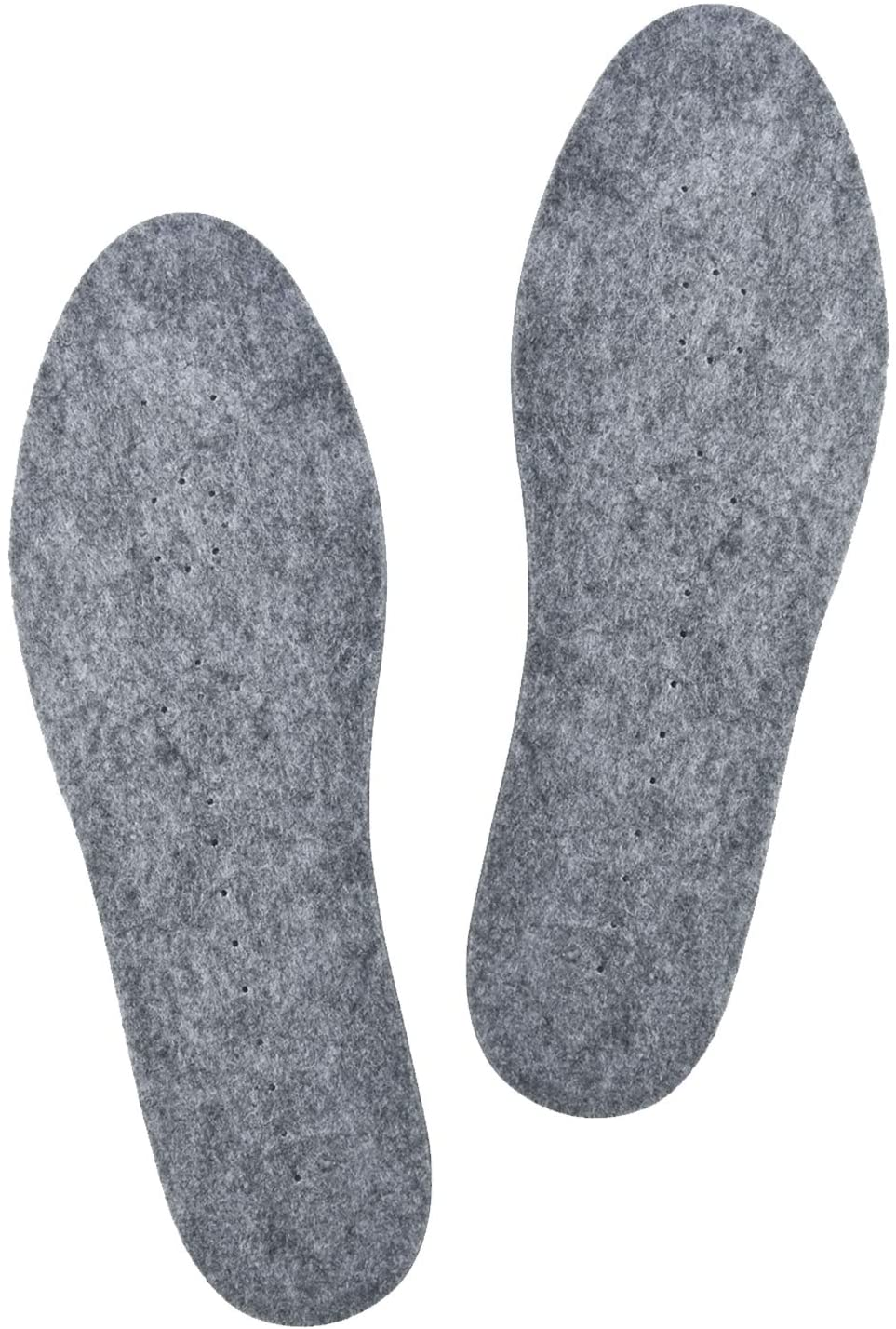 Knixmax Womens Wool Felt Insoles Warm Shoe Inserts for Boots Winter Shoes 7/EU 38