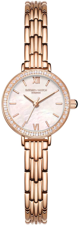 RORIOS Elegant Women Watch Analogue Quartz Watch Stainless Steel Bracelet Rhinestone Dial Wristwatches for Ladies Girls