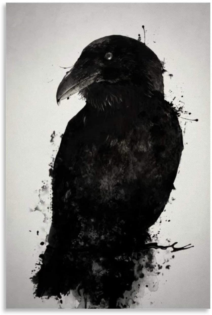 paobu The Raven Canvas Art Poster and Wall Art Picture Print Modern Family Bedroom Decor Posters 24x36inch(60x90cm)