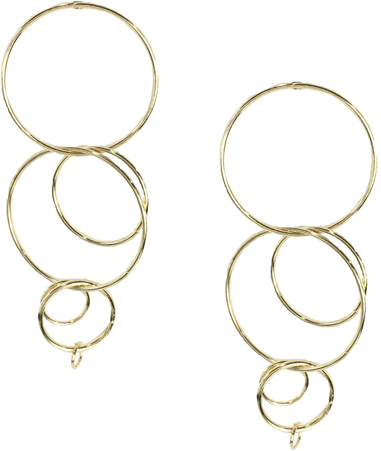 B Jewelry Collection Clique Interlocking Circle Drop Earrings, Golden