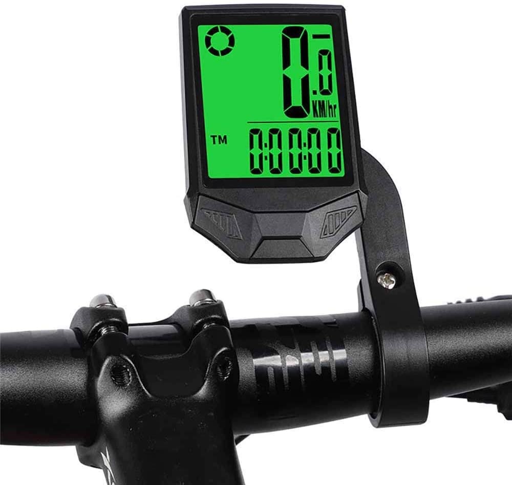 Powstro Bike Computer, Wireless Bicycle Speedometer Multi Function Waterproof Bike Odometer, Backlight Display Speed Tracker Cycling Accessories
