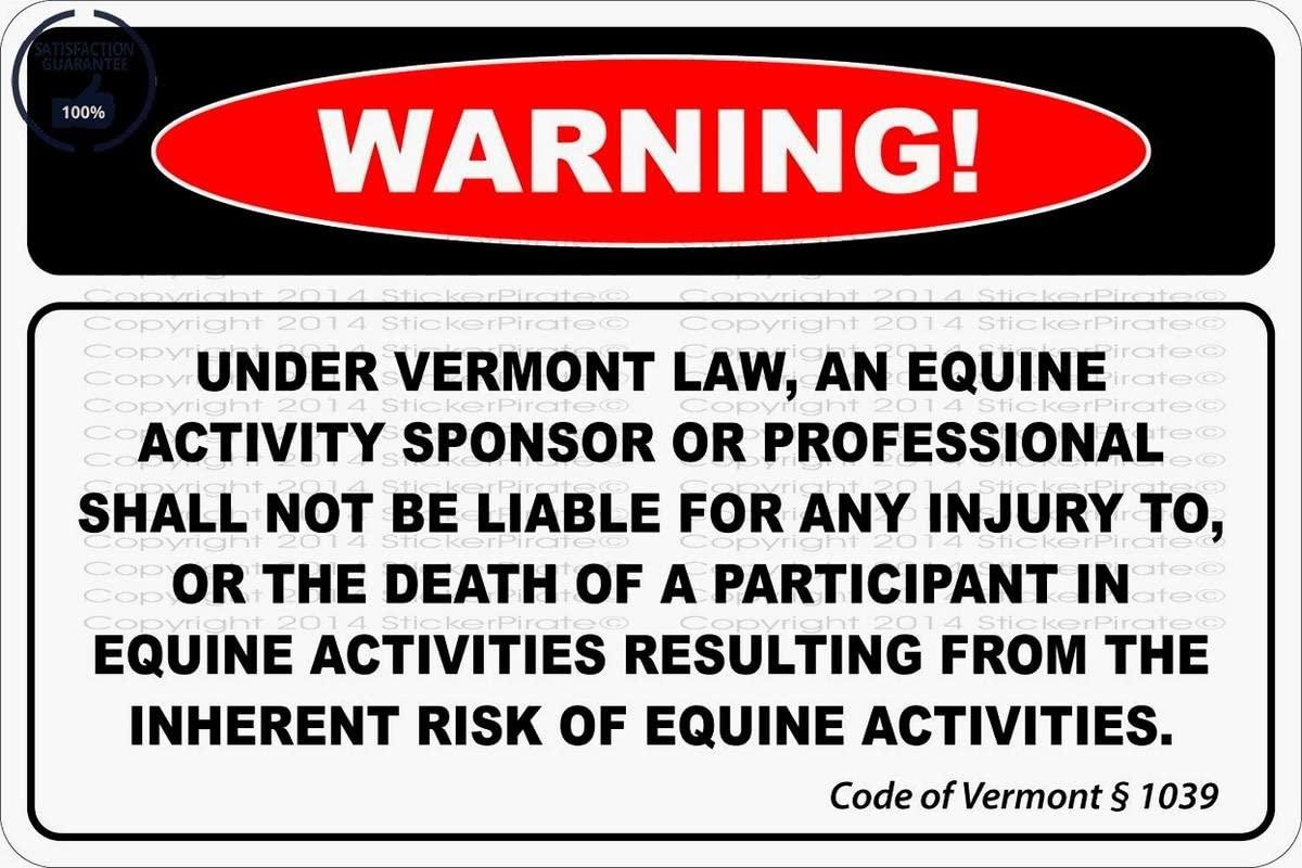 Warning Under Vermont Law 8