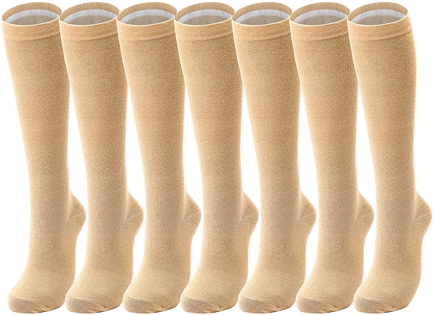 Cored Health Running Cotton Compression Socks Women Men 15-20mmhg Nurse 7RL