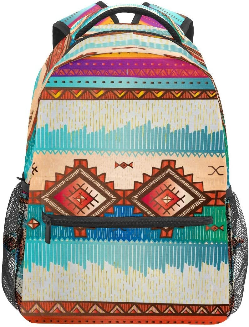 African Tribal Scrapbooking Texture Business Laptop Backpack Travel Hiking Camping Daypack College Bookbag Large Diaper Bag Doctor Bag School Backpack Water Resistant Anti-Theft for Women&Men