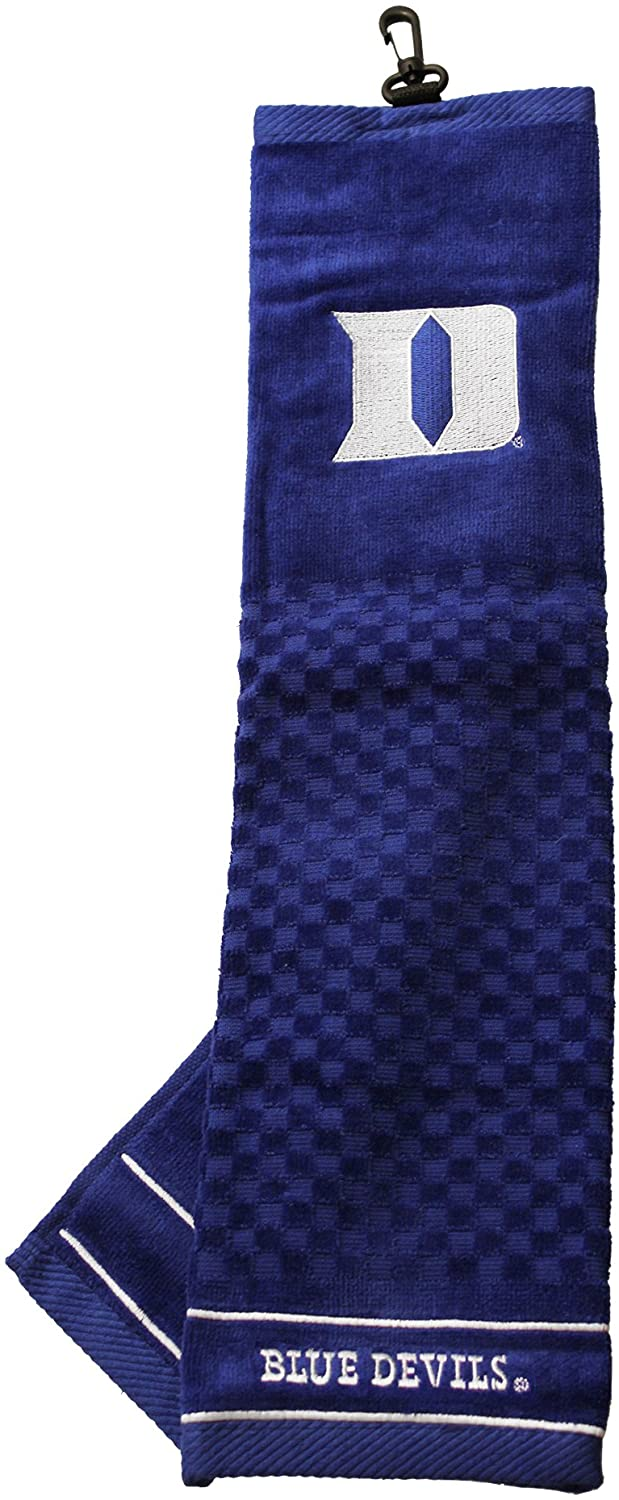 Team Golf NCAA Duke Blue Devils Embroidered Golf Towel, Checkered Scrubber Design, Embroidered Logo