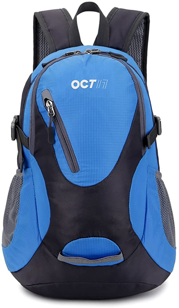 OCT17 Lightweight Small Backpack Water Resistant Durable Travel Hiking Camping Outdoor Daypack Waterproof For Men Women - Blue