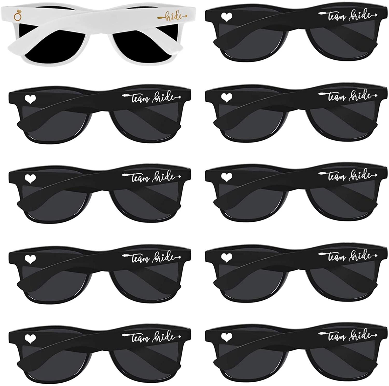 Bridal Shower Supplies Wedding Favor Bridesmaid Gifts 10pcs Bachelorette Party Sunglasses