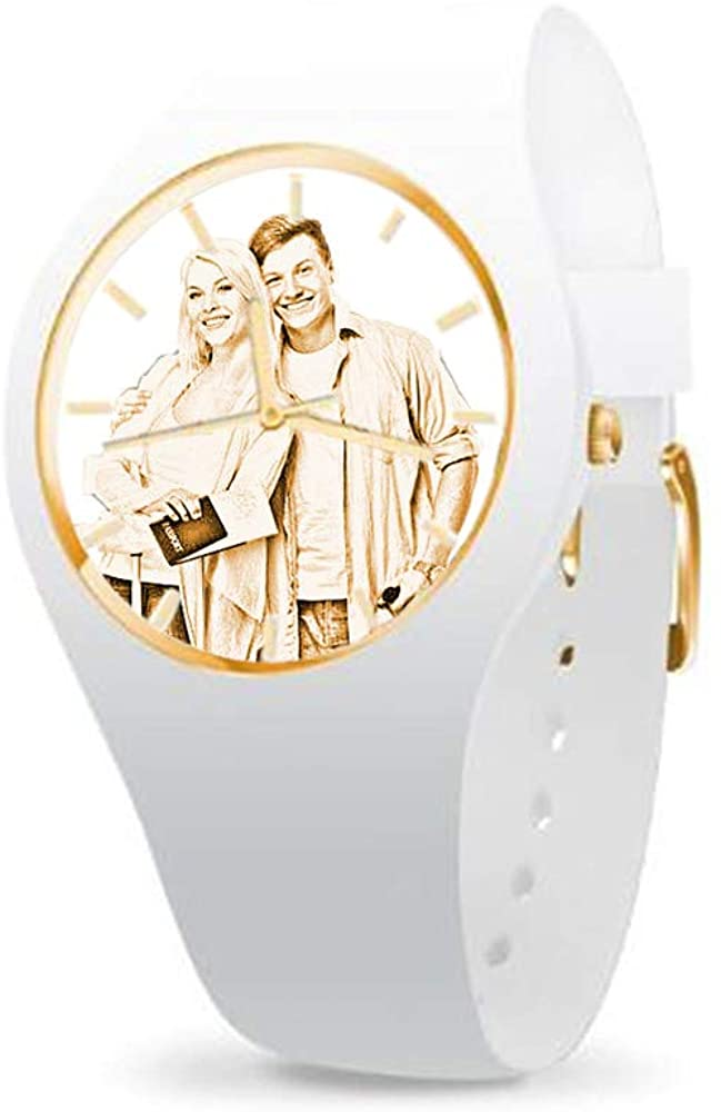 Custom Photo Watch Personalized Silicone Watch Dial with Photos for Men/Women Gift