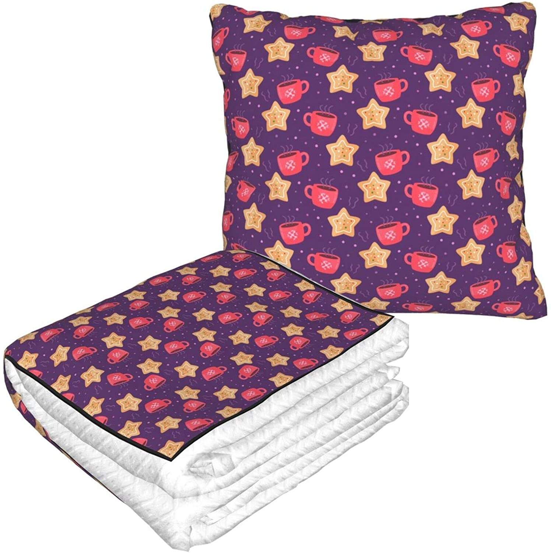 GARDE ART STUDIO Travel Blanket and Pillow Warm Soft 2 in 1 Combo Blanket