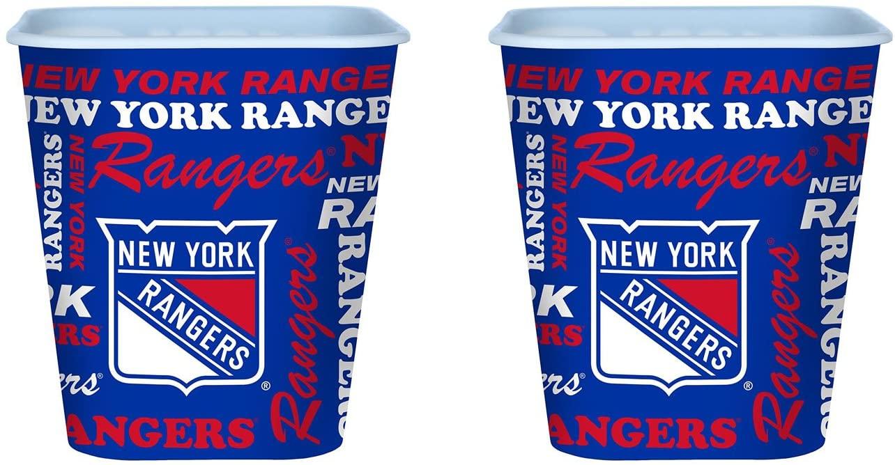 Boelter Set of 2 New York Rangers 3 Liter Reusable Plastic Snack Buckets!
