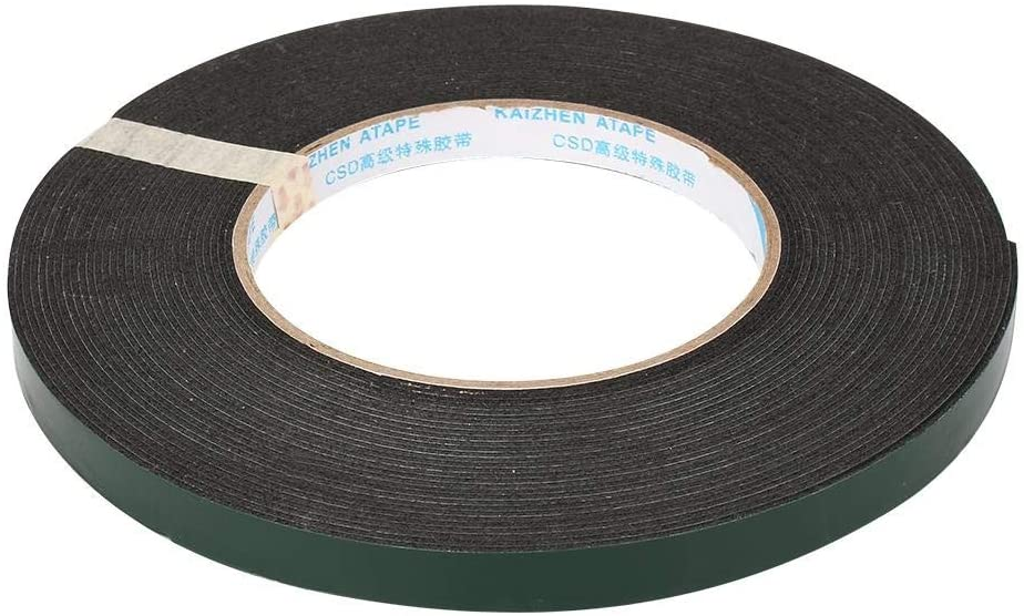 Adhesive Tape - 10m Super Strong Waterproof Self Adhesive Double Sided Foam Tape Black Color