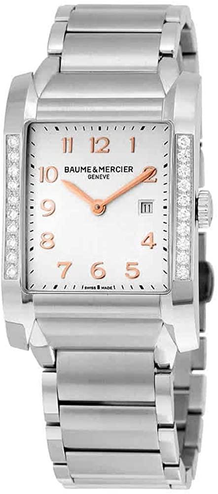 Baume & Mercier Women's MOA10023 Hampton Analog Display Quartz Silver Watch