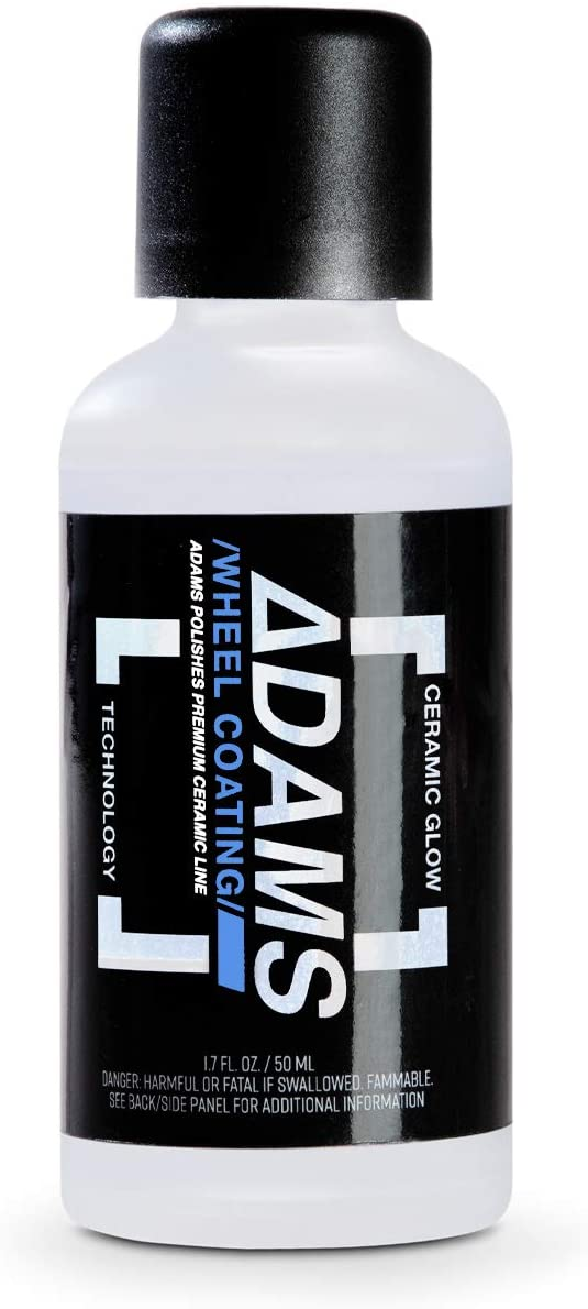 Adam's UV Tracer Ceramic Wheel Coating 50ml Bottle - Upgraded, Patent Pending UV Technology 9H Hardness Ceramic Coating Formula - Long Lasting Protection That Beads and Repels Water